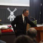 Kalba buvęs mokinys Petras Vaitiekūnas. Liudvinavo Kazio Borutos gimnazijos nuotrauka.