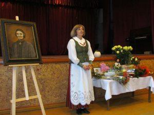 Laureatė dėkoja visiems susirinkusiems, ją palaikiusiems ir sveikinusiems