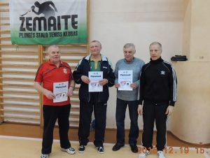 Iš kairės: Petras Ubartas, Algirdas Stancelis, Algimantas Krajinas ir Stanislovas Ivanauskas