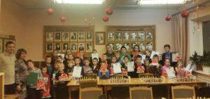 Kalėdinio šachmatų turnyro dalyviai