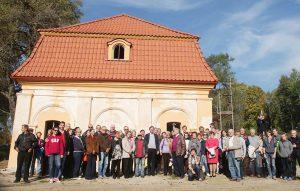 Šiuo metu restauruojamų oficinos ir oranžerijos pažangos pristatymo renginys / VŠĮ Europos parkas nuotr.