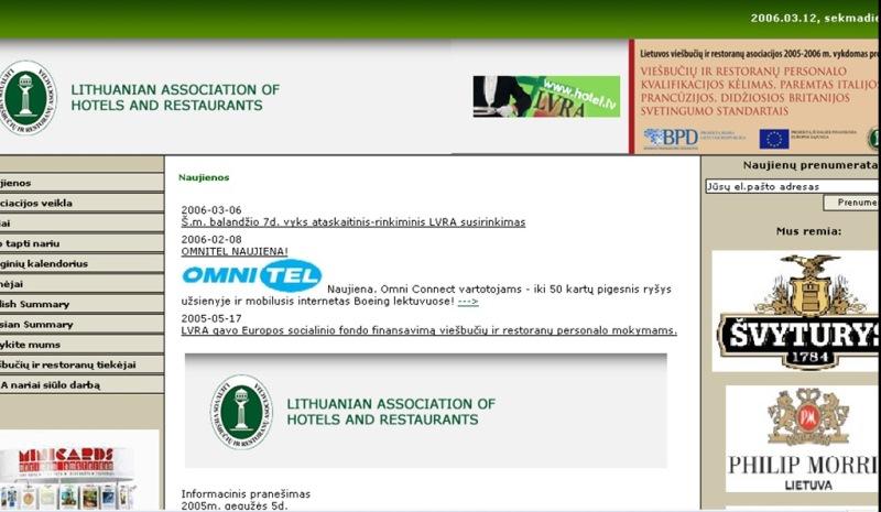 Viešbučių ir restoranų asociacija - alkoholio pramonės lobistinė organizacija...