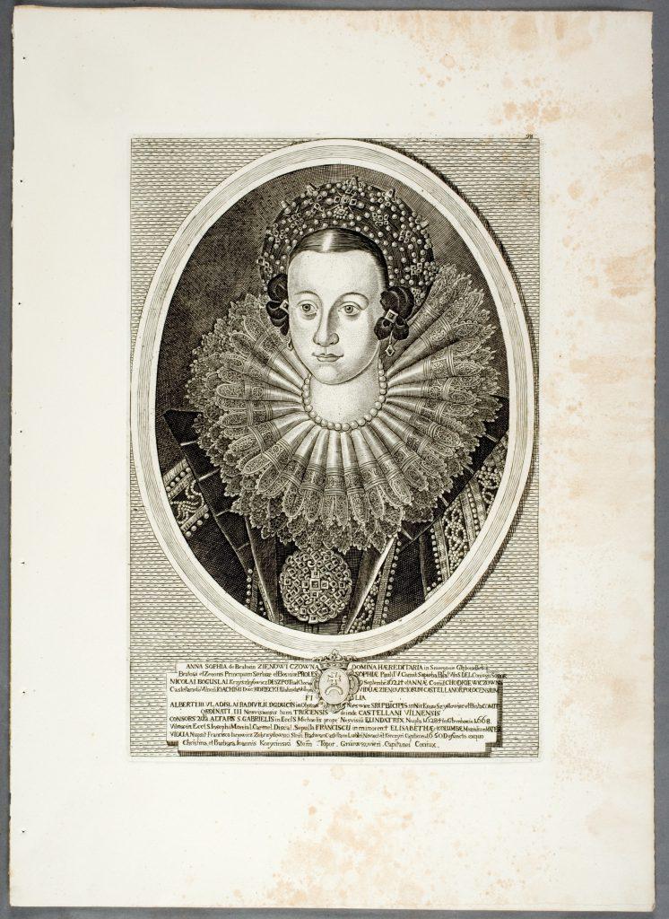 Onos Sofijos Radvilienės portretas (XVIII a. vario raižinys)