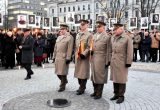 Kapsulės su Laisvės kovų relikvijomis atnešamos į Lukiškių aikštę 2018 m. sausio 12 d.