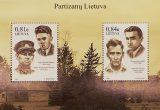 Pašto ženklų blokas Partizanų Lietuva nr 3