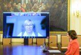 Diana Nausėdienė dalyvauja lituanistinio ugdymo forume / Prezidentūros nuotr.