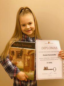 Konkurso Turtinga kalba - turtingas aš II-os vietos laimėtoja Goda Nariukaitė / Viktorijos Nariukaitės nuotr.