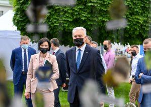 """Prezidentas dalyvauja """"Žaliųjų idėjų festivalyje"""" ir skelbia """"Žalios Lietuvos"""" deklaraciją / Prezidentūros nuotr."""