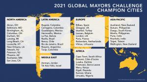 Miestų finalistų žemėlapis