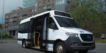 Elektra varomų autobusų dizaine dominuos balta spalva, papildant ją Druskininkų herbui arba prekės ženklui artimomis spalvomis./ Gamintojų vizualizacija