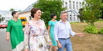 Diana Nausėdienė dalyvauja dienos centro Alsėdžiuose atidaryme / Prezidentūros nuotr.