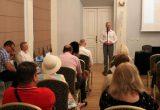 Savivaldybės meras Skirmantas Mockevičius pasveikino konferencijos dalyvius