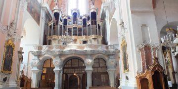 Vilniaus Šventosios Dvasios (Dominikonų) bažnyčios vargonai – šventovės puošmena. Šiuo metu bažnyčioje likęs tik vargonų prospektas, o instrumentas išvežtas į restauravimo dirbtuves / KPD nuotr.