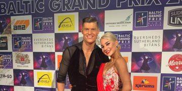 E. Degutis ir U. Bliujūtė - Lotynų Amerikos šokių programos nugalėtojai