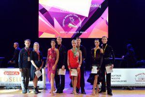 Lietuvos 10 šokių čempionato suaugusiųjų grupės medalininkai / GoodDance.eu nuotr.